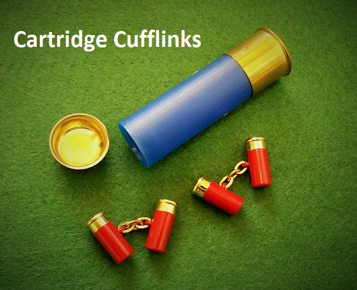 Cartridge Cuff-Links in Cartridge Case
