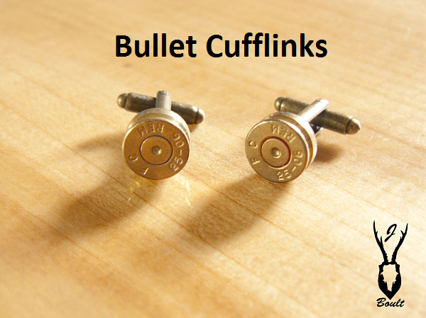 Bullet Cuff-Links - Jamie Boult Designs