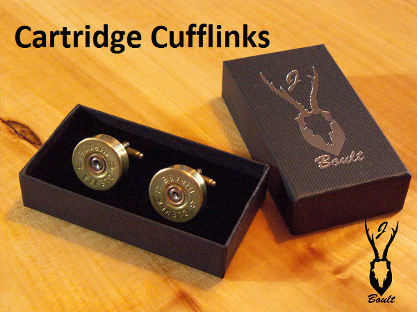 Cartridge Cuff-Links - Jamie Boult Designs