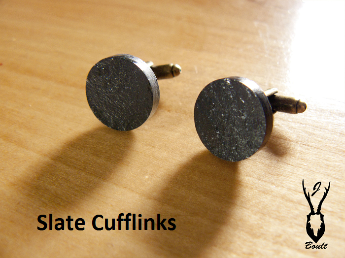 Slate Cuff-Links - Jamie Boult Designs
